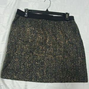 LOFT Black/Gold Skirt - Size 8